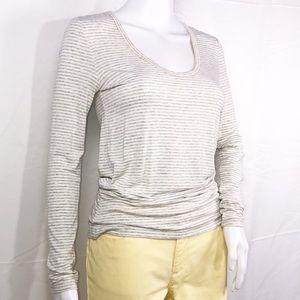 Nordstrom Gray & White Stripes Long Sleeveless XS